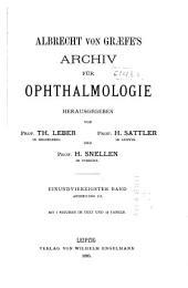 Albrecht von Graefes Archiv für Ophthalmologie: Band 41,Ausgaben 3-4