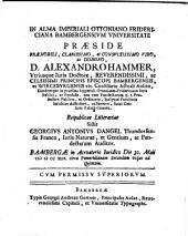 Dissertatio ivridica de eo, qvod ivre pvblico vniversali circa collegia, praesertim litteraria, ivris est