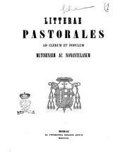 Litterae pastorales ad clerum et populum Mutinensem ac Nonantulanum [Franciscus Aemilius Cugini]