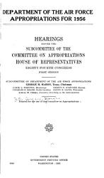 Department of the Air Force Appropriations for 1956 PDF
