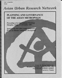 Planning and Governance of the Asian Metropolis PDF