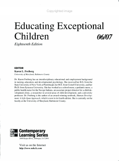 Educating Exceptional Children 06 07 Book