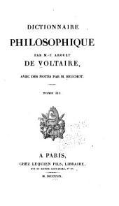 Dictionnaire philosophique: Volume3