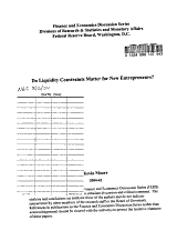 Do Liquidity Constraints Matter for New Entrepreneurs  PDF