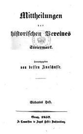 Mittheilungen des Historischen Vereines für Steiermark: Bände 7-9