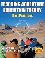 Teaching Adventure Education Theory PDF
