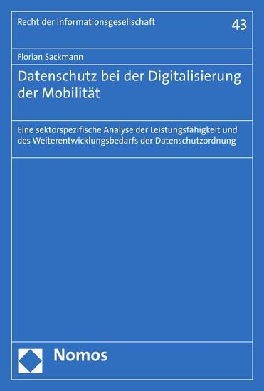 Datenschutz bei der Digitalisierung der Mobilit  t PDF
