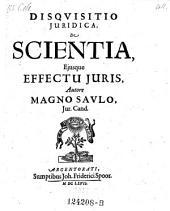De scientia ejusque effectu juris