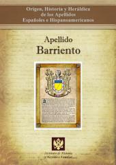 Apellido Barriento: Origen, Historia y heráldica de los Apellidos Españoles e Hispanoamericanos