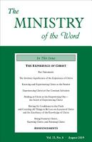 The Ministry of the Word  Vol  23  No  8 PDF