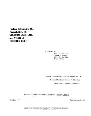 Factors Influencing the Palatability  Vitamin Content  and Yield of Cooked Beef PDF