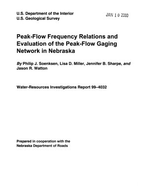 Peak flow Frequency Relations and Evaluation of the Peak flow Gaging Network in Nebraska