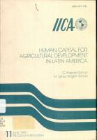 Human Capital for Agricultural Development in Latin America PDF