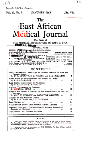 The East African Medical Journal PDF