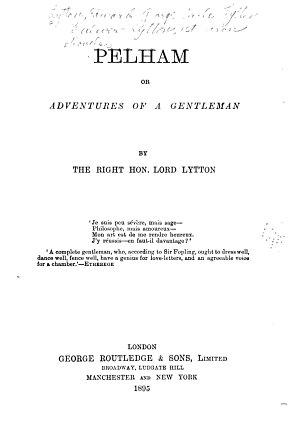Novels  Pelham  1895