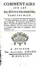 Commentaire sur les xii. petits prophetes [by F. Joubert].