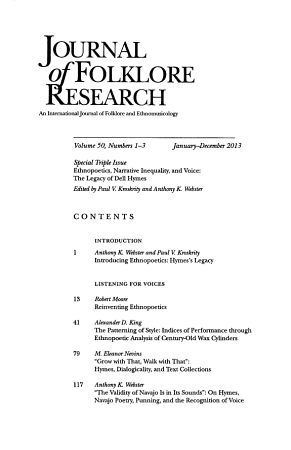 Journal of Folklore Research PDF