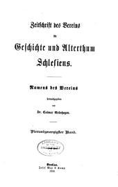 Zeitschrift des Vereins für Geschichte Schlesiens: Band 24