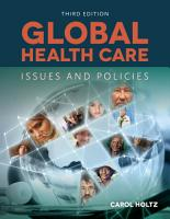 Global Health Care  Issues and Policies PDF