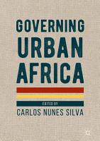Governing Urban Africa PDF