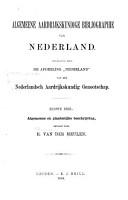 Algemeene aardrijkskundige bibliographie van Nederland PDF
