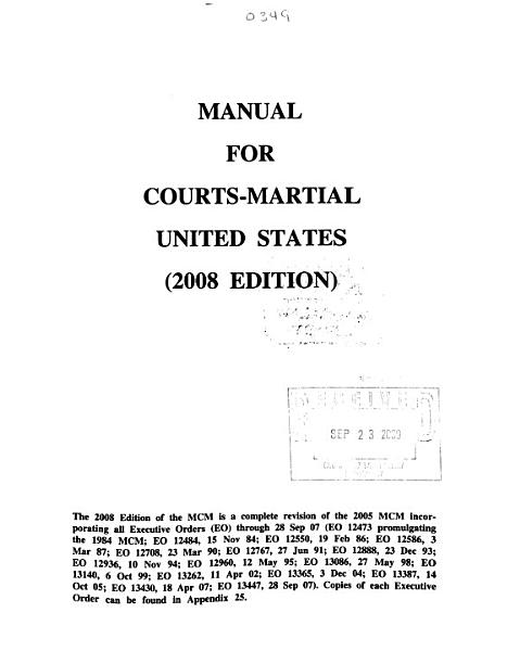 Download Manual for Courts martial  United States Book