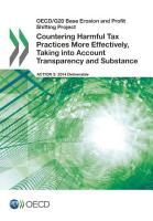 OECD G20 Base Erosion and Profit Shifting Project Countering Harmful Tax Practices More Effectively  Taking into Account Transparency and Substance PDF