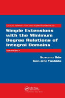 Simple Extensions with the Minimum Degree Relations of Integral Domains PDF