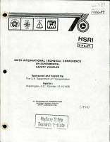 International Technical Conference on Experimental Safety Vehicles  Sixth  Report PDF