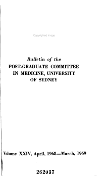 Bulletin of the Postgraduate Committee in Medicine  University of Sydney   PDF