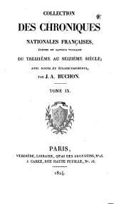 Chroniques de Froissart: Volume9