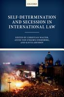Self Determination and Secession in International Law PDF