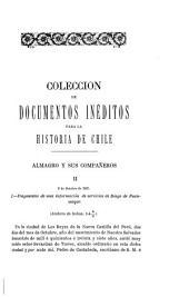 Colección de documentos inéditos para la historia de Chile desde el viaje de Magallanes hasta la batalla de Maipo, 1518-1818: Volúmenes 5-6