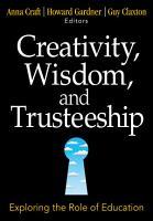 Creativity  Wisdom  and Trusteeship PDF