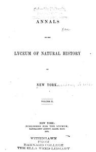Annals of the Lyceum of Natural History of New York Book