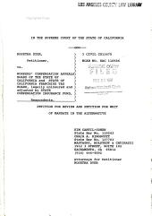 California. Supreme Court. Records and Briefs: S024434, Petition for Review