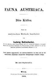 Fauna Austriaca: Die Käfer. Nach der analytischen Methode bearbeitet. Mit 2 Kupfertafeln