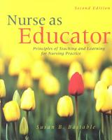 Nurse as Educator PDF