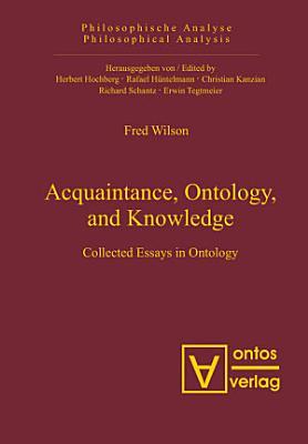 Acquaintance  Ontology  and Knowledge PDF