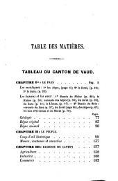 Manuel du voyageur dans le Canton de Vaud
