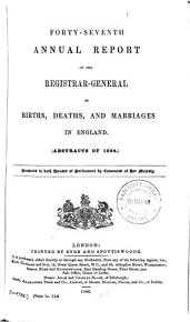 Annual Report of the Registrar General of Births  Deaths  and Marriages in England PDF