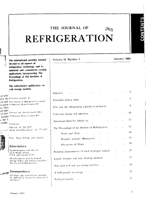 The Journal of Refrigeration PDF