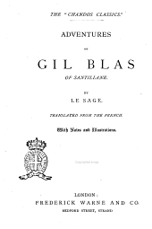 Adventures of Gil Blas of Santillane by Le Sage