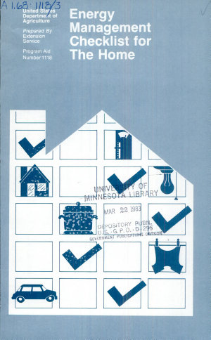 Energy Management Checklist for the Home