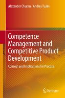 Competence Management and Competitive Product Development PDF