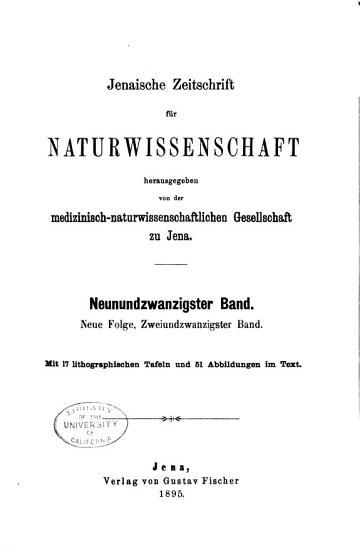 Jenaische Zeitschrift f  r Medizin und Naturwissenschaft PDF