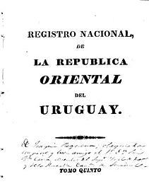 Registro nacional de la Rep  blica Oriental del Uruguay PDF