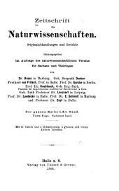 Zeitschrift für Naturwissenschaften: Bände 61-62