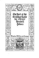 The Poet at the Breakfast table PDF