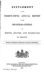 Annual Report     of Births  Deaths  and Marriages in England and Wales PDF